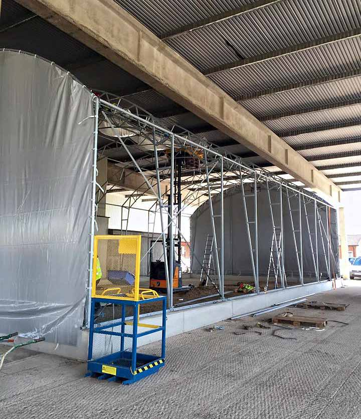 Den nya truckhallen på tegelbruksskolan i Klippan