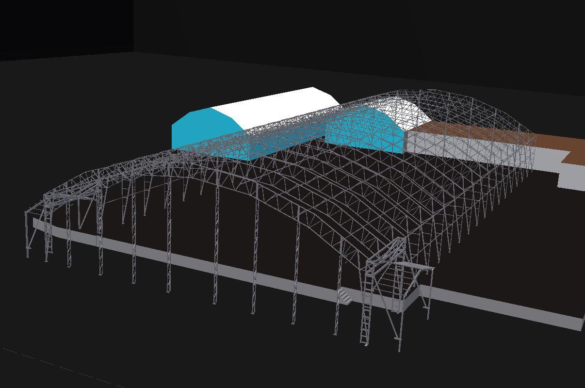 Ritning över Alfapacs nya lagerhall