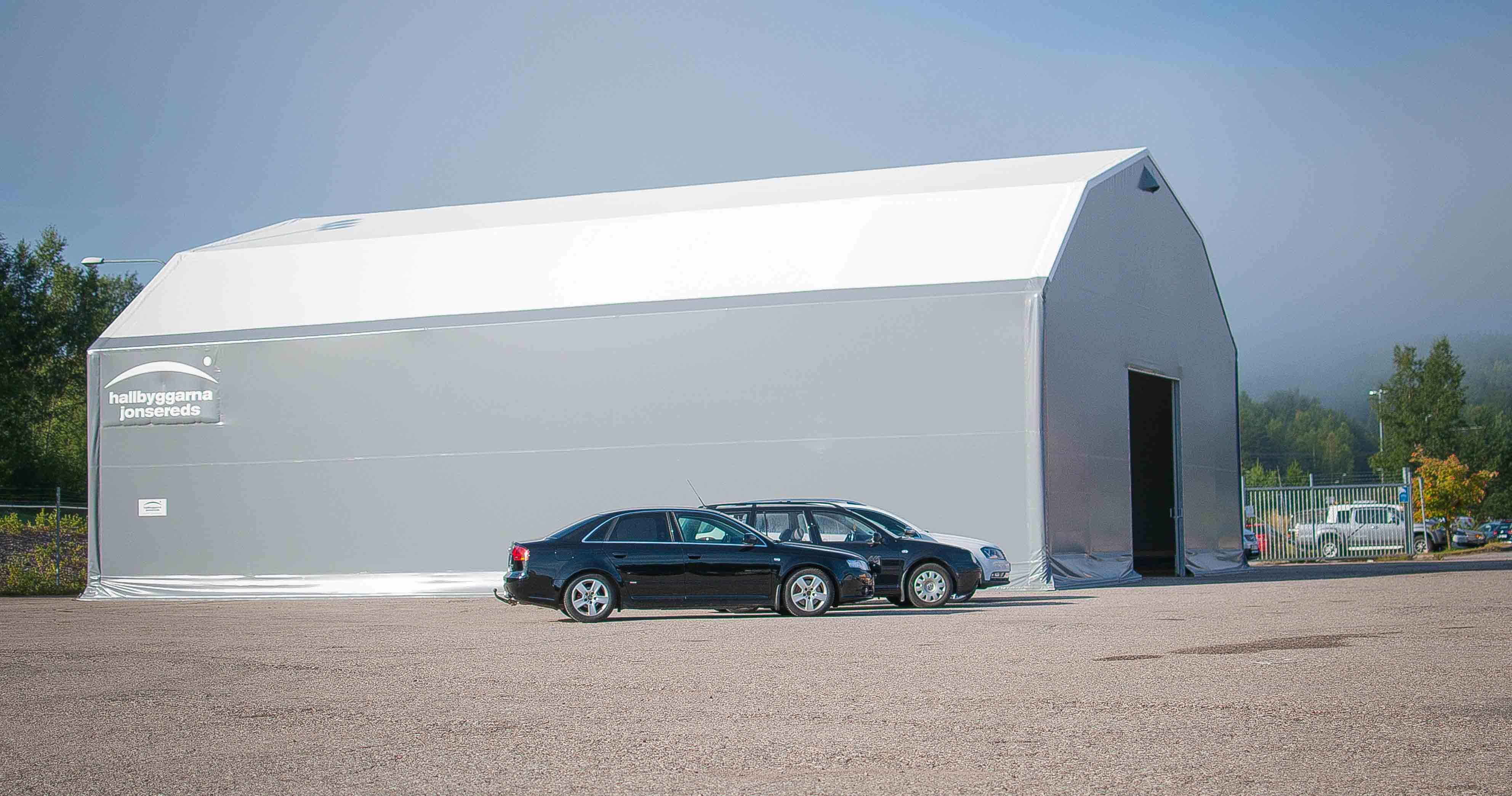 Bilhallen i Falun blev företagets tillfälliga lösning