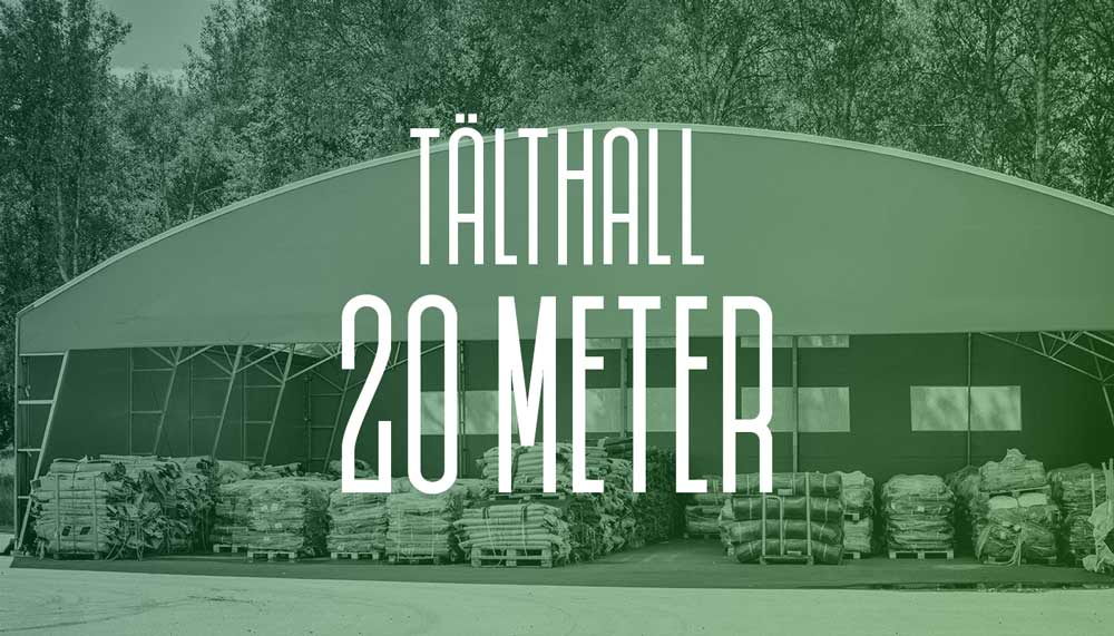 Läs mer om vår tälthall 20 meter