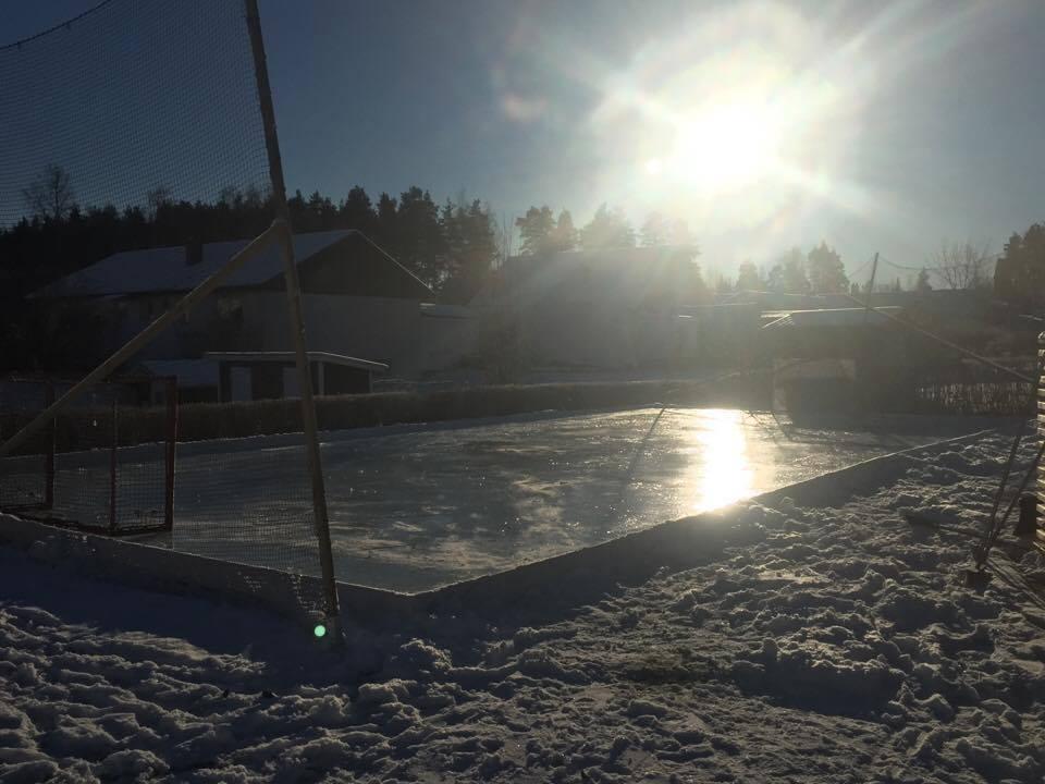 Skyddsnät till hockeyrink