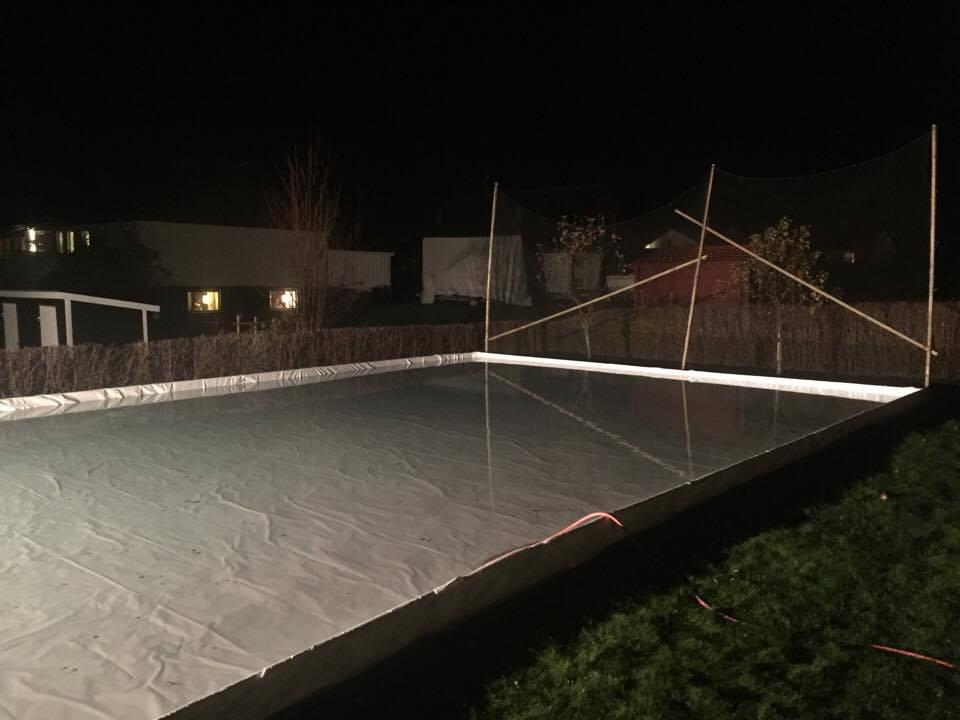 Hur bygger man en hockeyrink