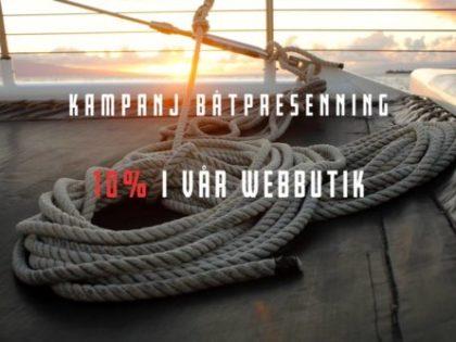 Just nu! Båtpresenning 10% rabatt vid beställning via webbutiken.