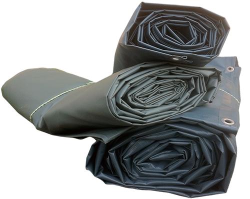 Tre skräddarsydda PVC-presenningar