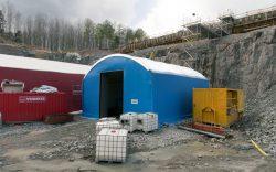 Blå bygghall, 10 meter bred