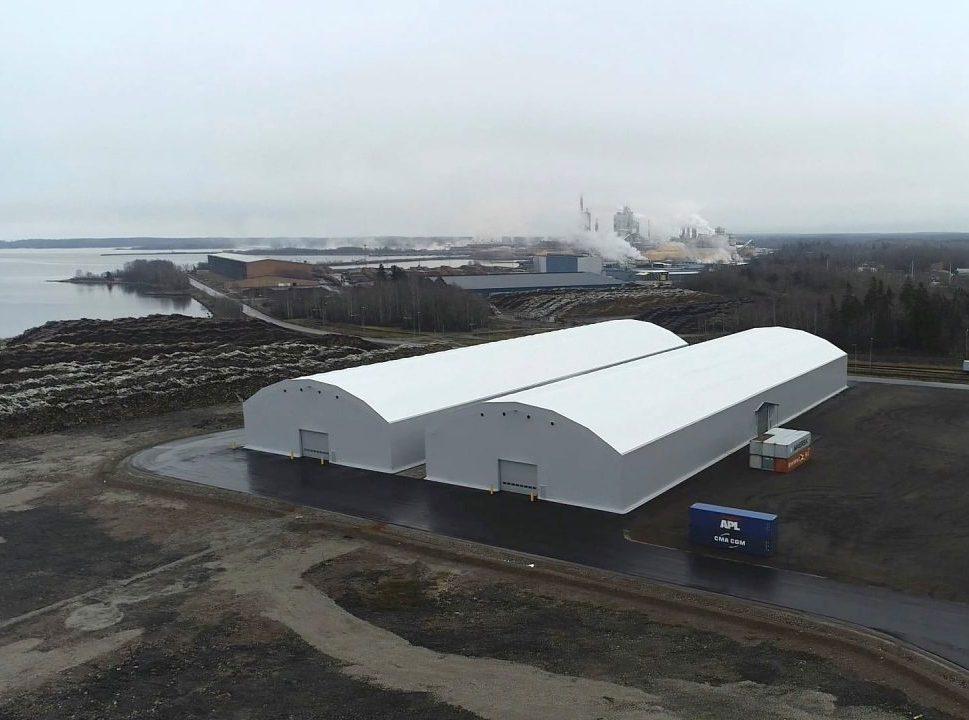 Lagerhallar hos Yilport Gävle hamn