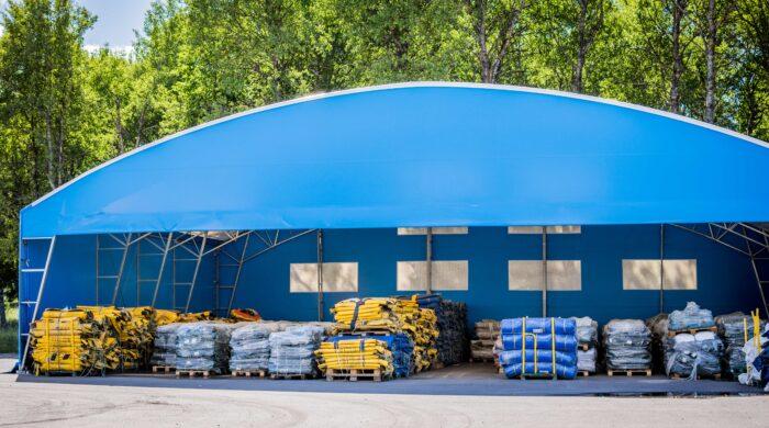 Lagerhall pris - Fin blå lagerhall till bra pris från Hallbyggarna Jonsereds