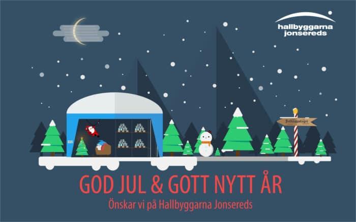 God Jul önskar Hallbyggarna Jonsereds