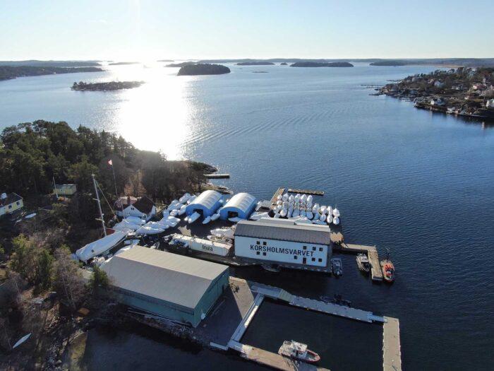 Båtvarvet (marinan) Korsholmsvarvet valde en snabb lösning